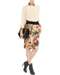 Preen By Thornton Bregazzi | Multicolor Cottage Printed Sateen and Wool Skirt | Lyst
