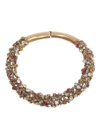 Alexander McQueen | Metallic Antique Gold Crystal Bee Choker | Lyst