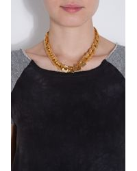 Eddie Borgo - Metallic Helix Square Link Necklace - Lyst