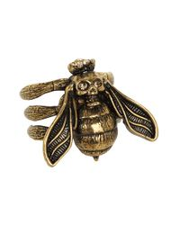 Alexander McQueen - Metallic Bee Ring - Lyst