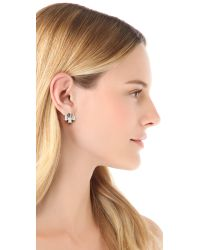 Auden - Metallic Crystal Stud Earrings Crystal - Lyst