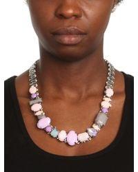 BaubleBar | Metallic Adia Kibur Pink Gem Rock Necklace | Lyst