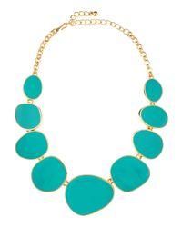 Kenneth Jay Lane | Green Turquoise Enamel Bib Necklace | Lyst