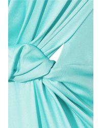 ROKSANDA - Blue Emmanuelle Color-Block Stretch-Silk Maxi Dress - Lyst