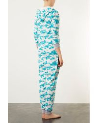 TOPSHOP - Blue Toile De Jour Print All in One - Lyst
