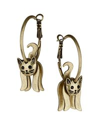 TOPSHOP | Metallic Cat Hoop Earrings | Lyst