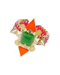 TOPSHOP - Multicolor Bright Stone Bracelet - Lyst