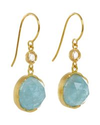 Irene Neuwirth - Blue Gemstone Double-drop Earrings - Lyst