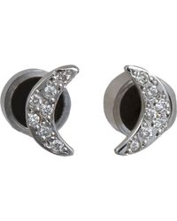 Ileana Makri | Black Crescent Moon Stud Earrings Size Os | Lyst