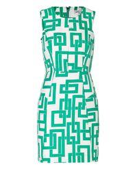 MILLY | Green Linensilk Link Sheath Dress in Mint | Lyst