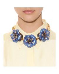 Miu Miu | Metallic Necklace with Oversized Flower Embellishment | Lyst