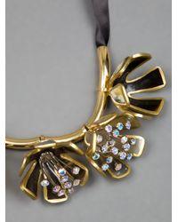 Marni | Metallic Flower Necklace | Lyst