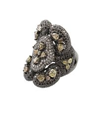 Wendy Yue | Black White Fancy Color Diamond Ring | Lyst
