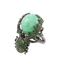 Wendy Yue - Green Turquoise Beetle Ring - Lyst