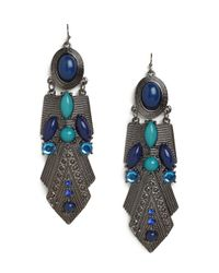 BaubleBar | Blue Azure Amun Earrings | Lyst