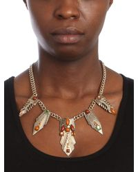 BaubleBar - Metallic Earth Amun Necklace - Lyst