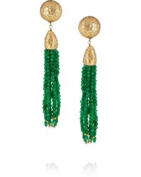 Rosantica | Green Cascata Jade Clip Earrings | Lyst