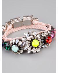 Shourouk - Pink Baraka Rococo Embellished Wrap Bracelet - Lyst