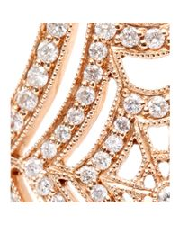 Stone - Metallic 18kt Rose Gold Spider Spirit Ring With White Pavé Diamonds - Lyst