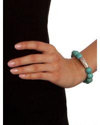 BaubleBar | Blue Marbled Turq Bar Bracelet | Lyst