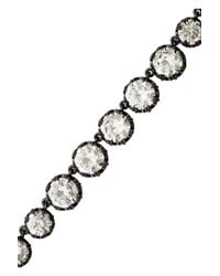 Kenneth Jay Lane   Metallic Rhodiumplated Cubic Zirconia Necklace   Lyst