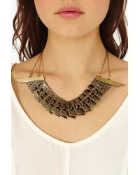 Nasty Gal - Metallic Therianthropy Necklace - Lyst