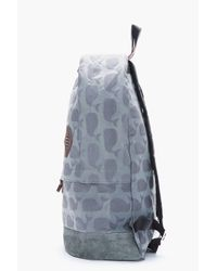 Thom Browne | Blue Grey Jacquard Woven Whale Print Backpack for Men | Lyst