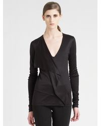 Akris | Black Silk Jersey Top | Lyst