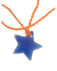 Aurelie Bidermann | Orange Star Charm Bracelet | Lyst