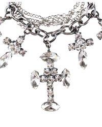 Emanuele Bicocchi - Metallic Cross Charms Bracelet - Lyst