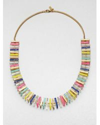 kate spade new york | Multicolor Long Square Beaded Necklace | Lyst