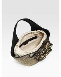 kate spade new york - Natural Striped Straw Tote - Lyst