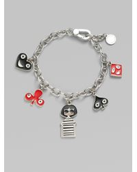 Marc By Marc Jacobs - Metallic Miss Marc and Friends Charm Bracelet - Lyst