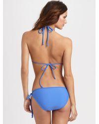 Shoshanna | Blue Ruffle String Bikini Bottom | Lyst