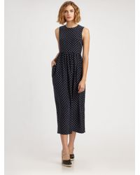 Steven Alan - Blue Cynthia Silk Polka-Dot Dress - Lyst