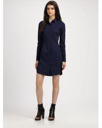 Theory - Blue Vosela Shirt Dress - Lyst