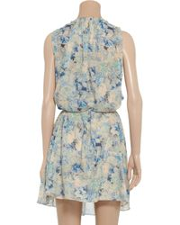 Vanessa Bruno - Blue Floralprint Cotton Dress - Lyst
