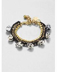 Venessa Arizaga - Fools Gold Chain Link Bracelet - Lyst