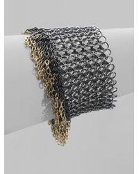 ABS By Allen Schwartz - Gray Tricolor Chain Bracelet - Lyst