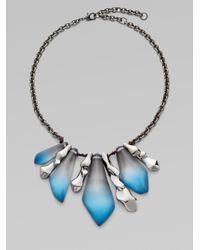 Alexis Bittar - Blue Color Gradient Lucite Bib Necklace - Lyst