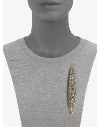 Alexis Bittar - Metallic Champagne Dust Crystal Elongated Marquis Pin - Lyst