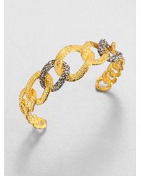 Alexis Bittar | Metallic Elements Cordova Crystal Chain Link Cuff Bracelet | Lyst