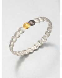 Gurhan | Metallic Lentil 24k Yellow Gold & Sterling Silver Bangle Bracelet | Lyst