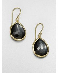 Ippolita | Black Hematite 18k Gold Teardrop Earrings | Lyst
