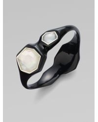 Ippolita | Black Clear Quartz Motherofpearl Resin Bracelet | Lyst