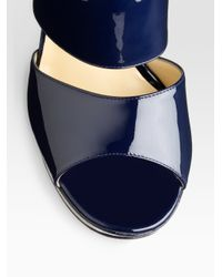 Jimmy Choo | Black Private Patent Leather Sandals | Lyst