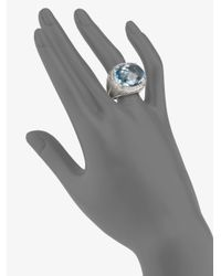 John Hardy - Metallic White Sapphire and Sterling Silver Ringsky Blue Topaz - Lyst