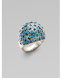 John Hardy | Metallic Sterling Silver Dot Dome Ring | Lyst