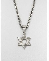 John Hardy | Metallic Star Of David Pendant Necklace | Lyst