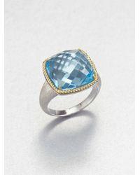 Jude Frances | Sky Blue Topaz 18k Gold Sterling Silver Ring | Lyst